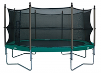 Trampoline met safety net